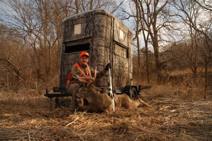 a whitetails basics bowhunting up your blind ground before hunting setting blinds the from blog